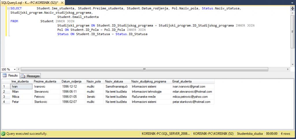 SQL komande